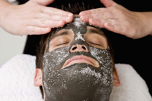 Men's spa facial