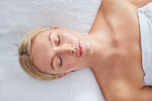 a women enjoying a spa treatment